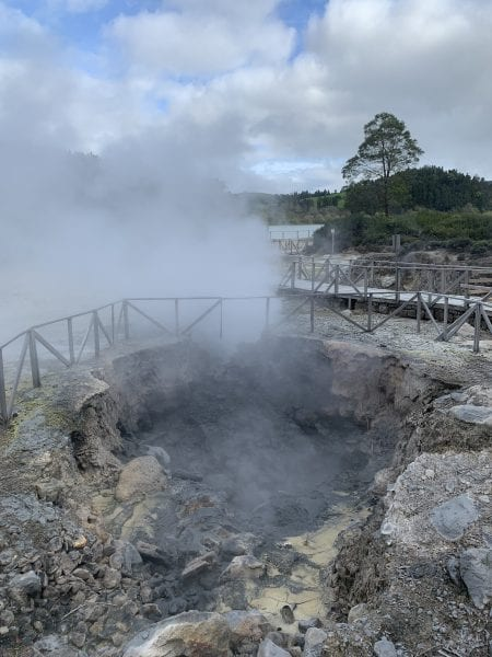 Geothermal steam holes, Furnas, Azores
